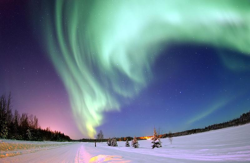 Aurora boreală surprinsă în Alaska