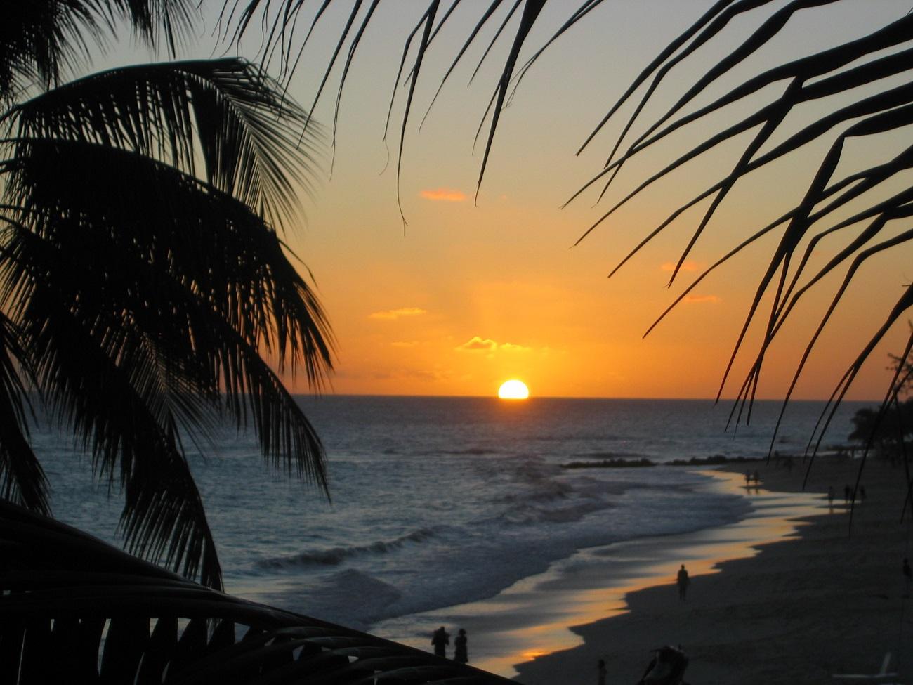 Apus de soare în Insula Barbados
