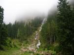 Cascada Cailor invaluita in ceata