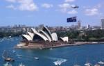 Clădirea Operei din Sydney în zi de sărbătoare