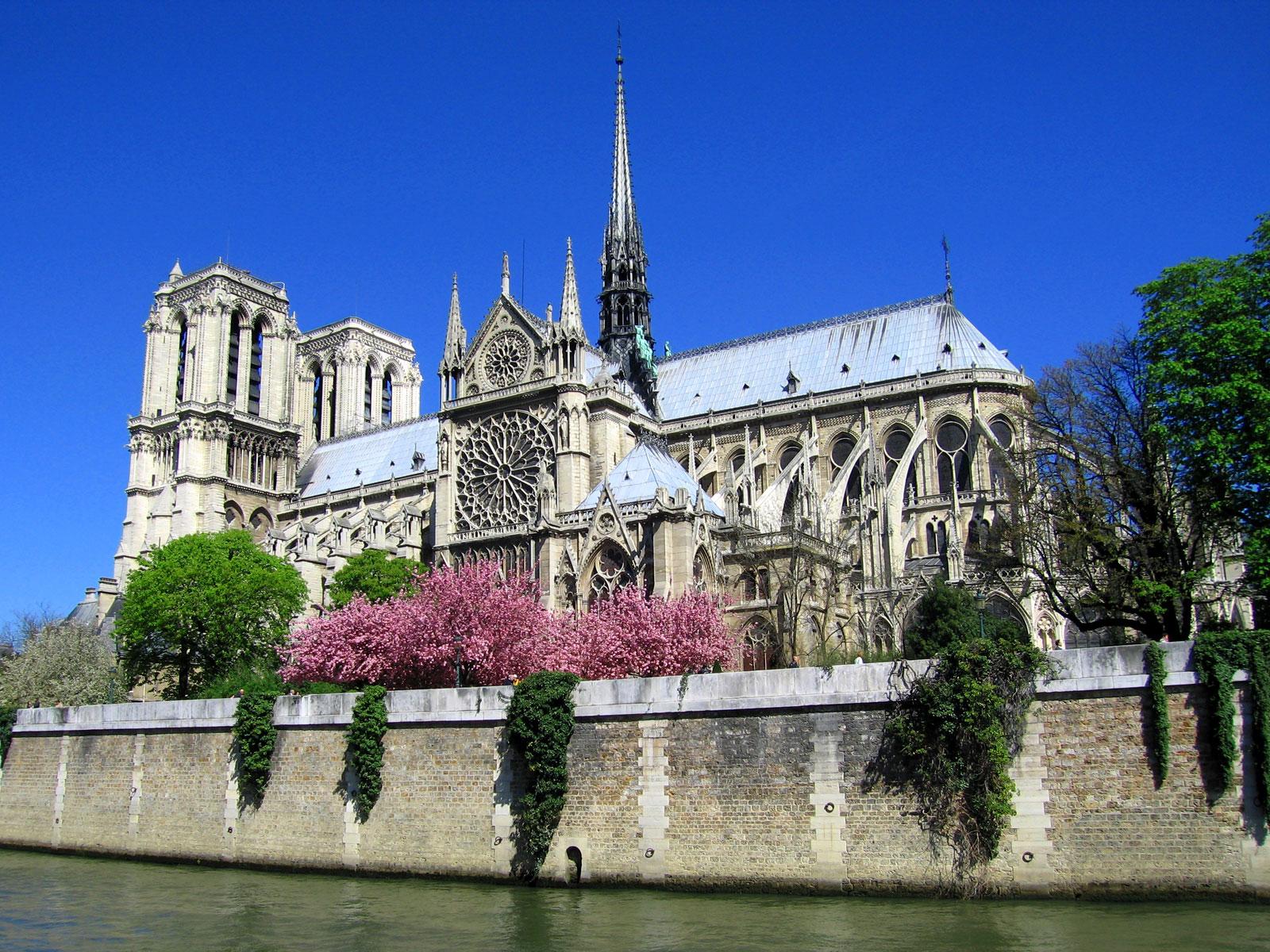 Notre Dame de Paris, vazuta de pe Sena