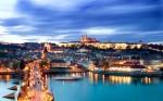 Praga, Orașul Vechi la căderea serii