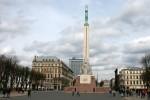 Riga, piața în care este amplasat Monumentul Libertății