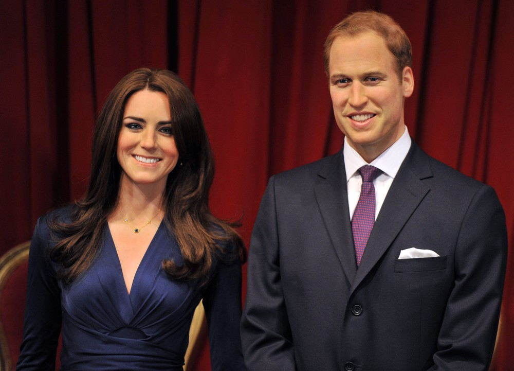 Statui din ceară, Prinţesa Kate Middleton şi Prinţul Charles, Muzeul Madame Tussauds