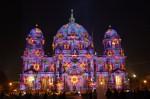 Catedrala din Berlin învăluită în luminile spectacolului