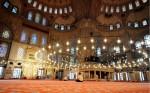 Interiorul Moscheei Albastre crează uimire în rândul vizitatorilor