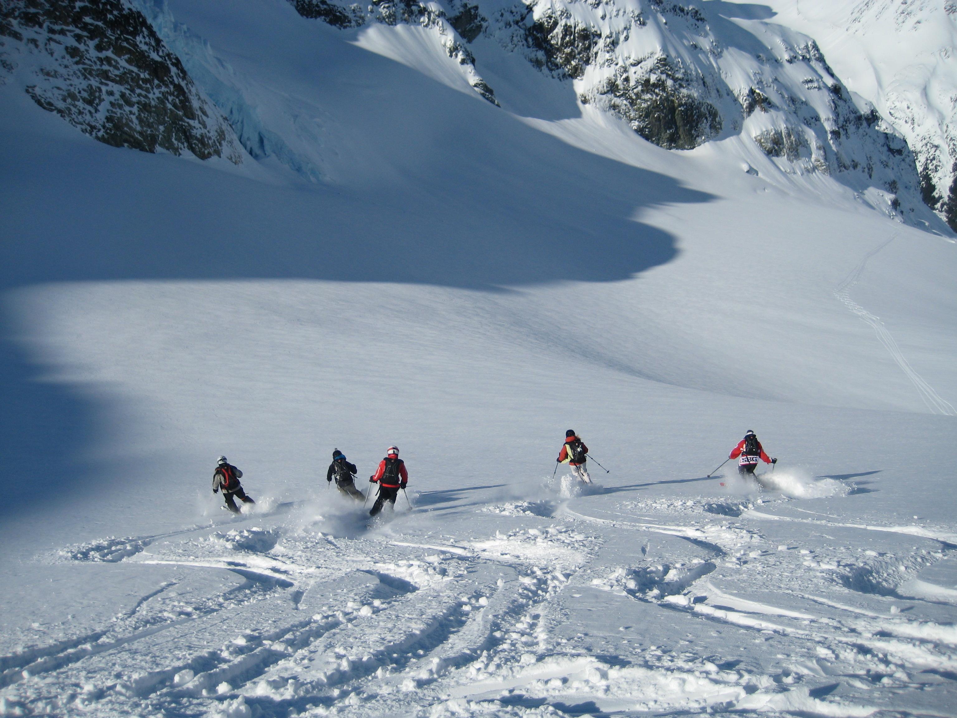 La Chamonix se schiază bine chiar și în afara pistei