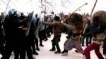Luptele din Ruginoasa se sfârșesc cu intervenția forțelor de ordine