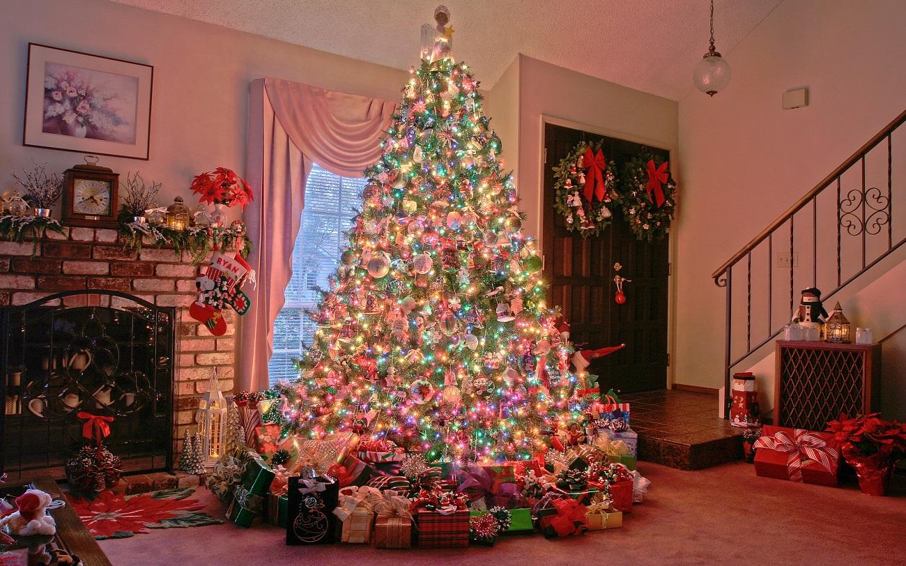 Pomul de Crăciun, într-o locuință din Spania