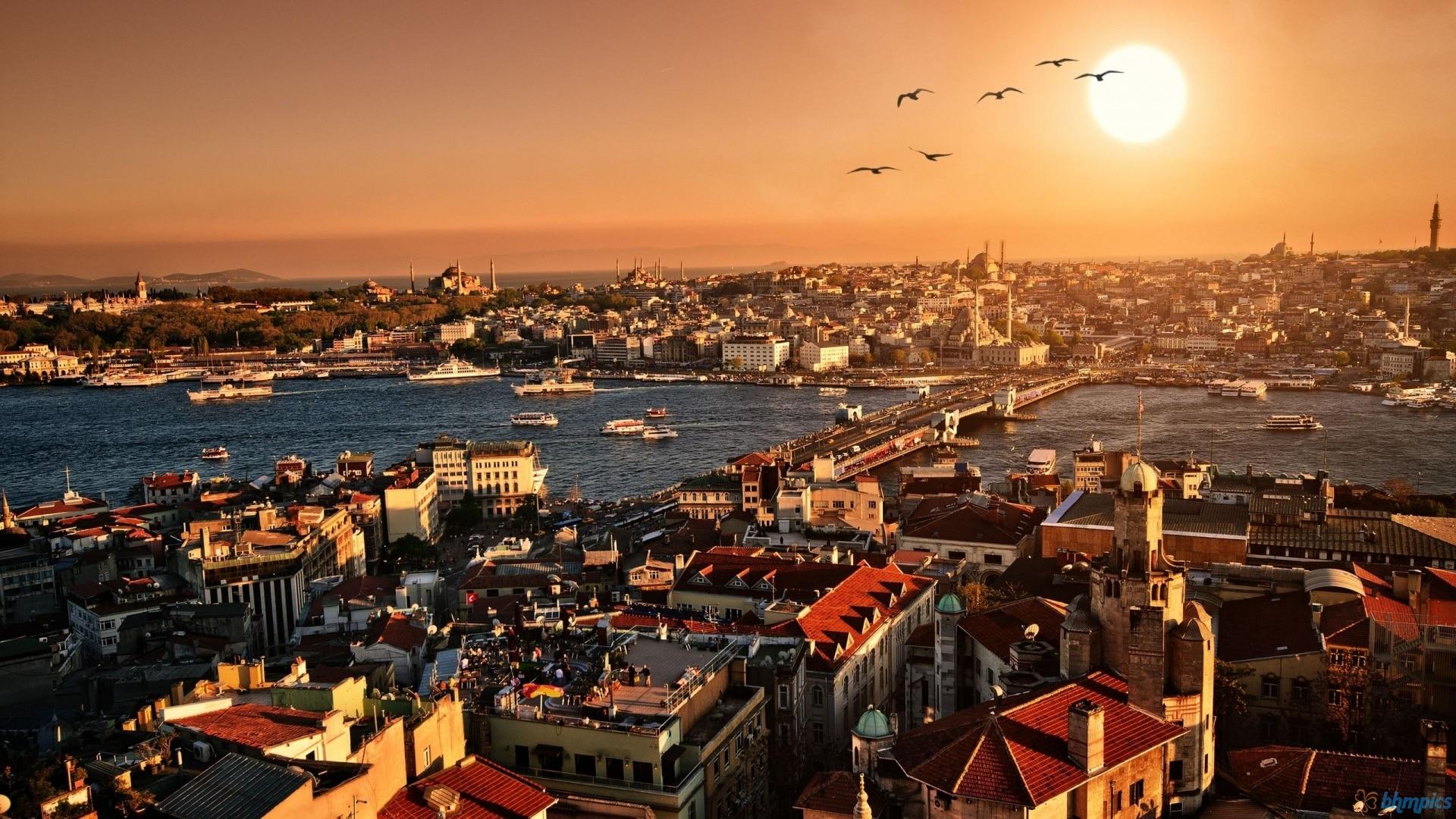 Vedere panoramică asupra oraşului Istanbul