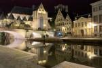 Canalele din Ghent permit observarea majorității obiectivelor turistice din oraș