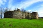 Cetatea Bologa văzută din exterior, azi doar ruinele