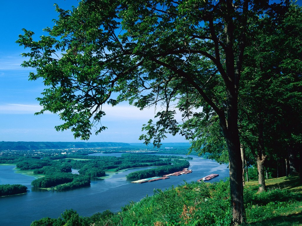 Apus de soare, Fluviul Mississipi
