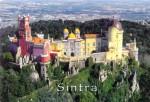 Clădirile orașului Sintra sunt așezate pe dealuri înalte