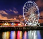 Seattle Ferris Wheel noaptea