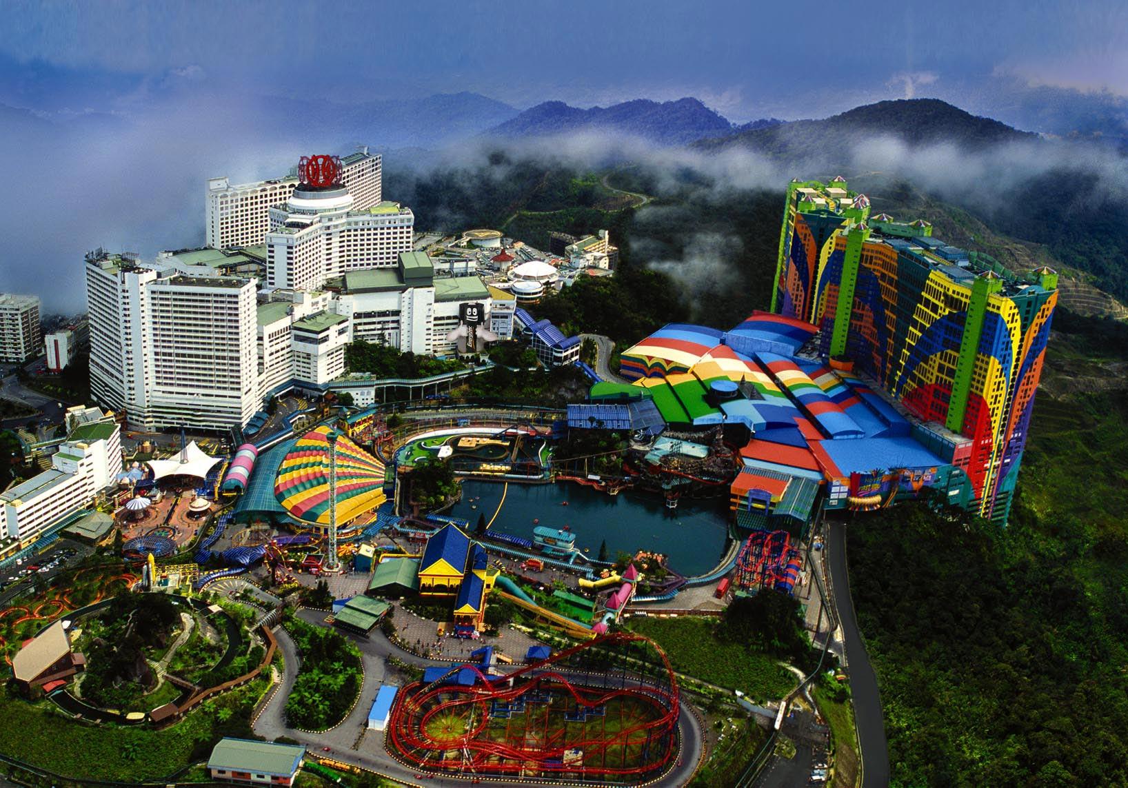 Stațiunea Genting Highlands, Malaezia situată la 2.000 de metri altitudine