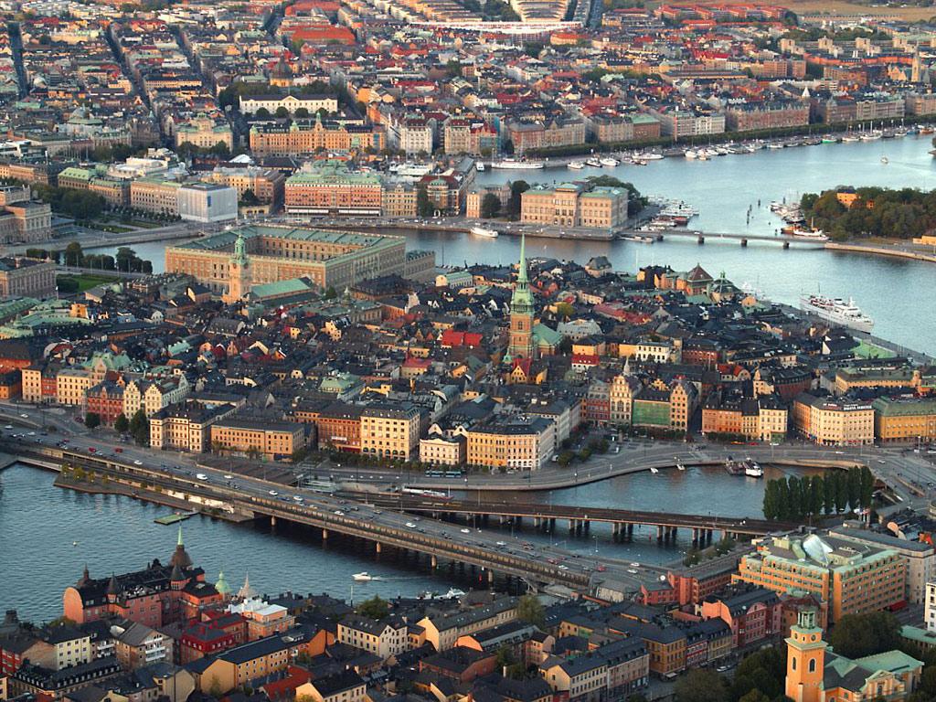 Oraşul Stockholm, Suedia - imagine panoramică