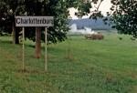 Intrarea în satulrotund Charlottenburg, Timiș, Banat
