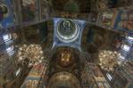 Biserica Mântuitorului de pe Sângele Vărsat, turla principală în interior