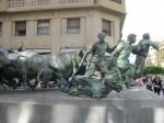 Corridele și cursele cu tauri sunt o tradiție veche, dovadă și acest monument