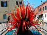 Obiect decorativ fabricat din sticlă de Murano