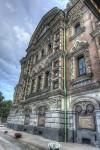 Plăcile de pe exteriorul clădirii amintesc de meritele țarului asasinat