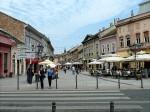Terase și străduțe pietonale din centrul orașului Novi Sad