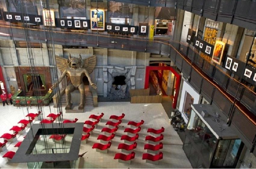 Clădirea Mole Antonelliana în care se află Muzeul Național de Cinema din Torino, Italia