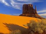 Pe alocuri. dunele de nisip sunt aurii