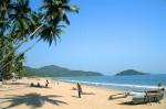Plajă însorită din Goa, India