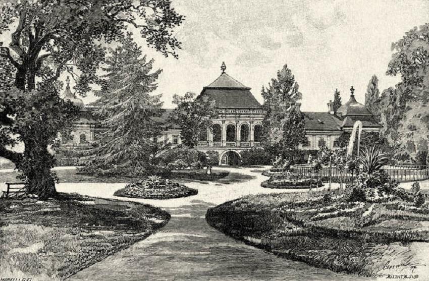 """Castelul Wesselenyi împrejmuit de Grădina Botanică """"Vasile Fati"""""""