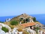 Ruinele cetății medievale de pe plaja Kastro