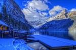 Lacul Louise, iarna