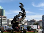 Los Caballos, cel mai renumit monument stradal din Vigo
