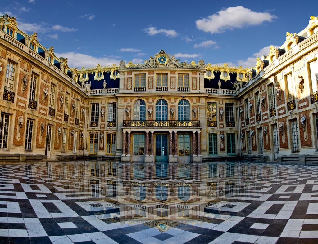 Palatul Versailles, vedere aeriană