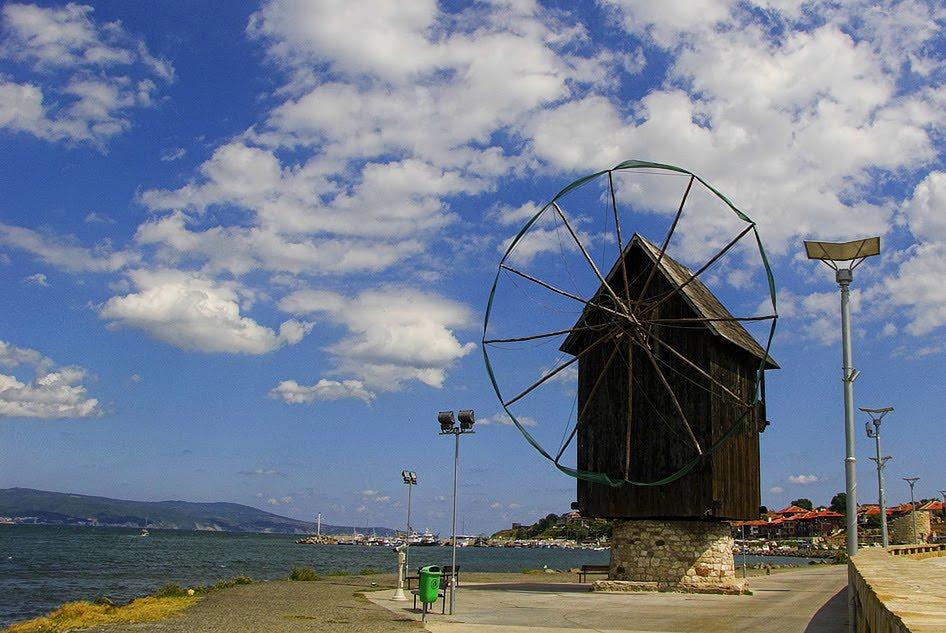 Moara de vânt din Nesebar, un simbol al orașului