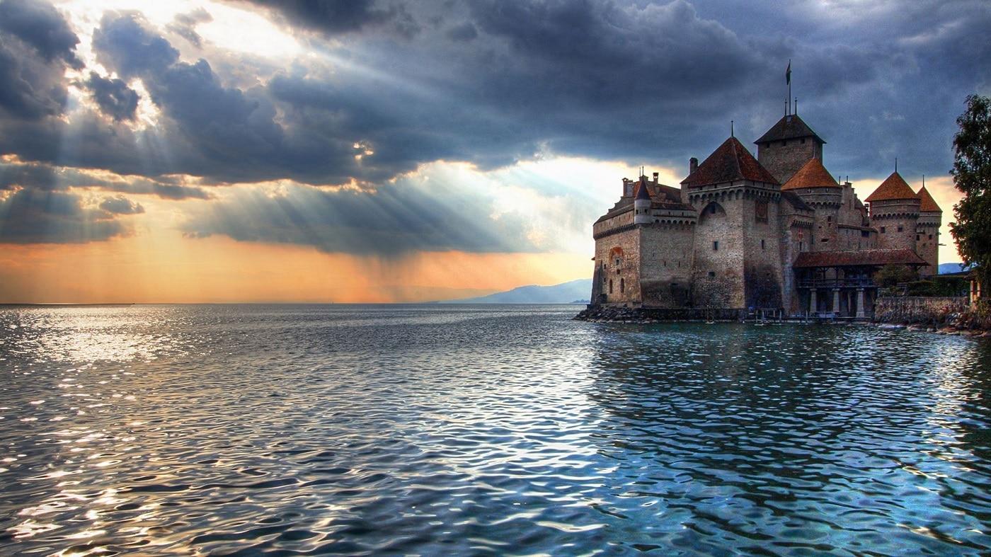 Castelul Chillon, Lacul Geneva