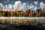 Lacul Misurina, toamna