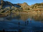 Lacul Bucura, îngheţat