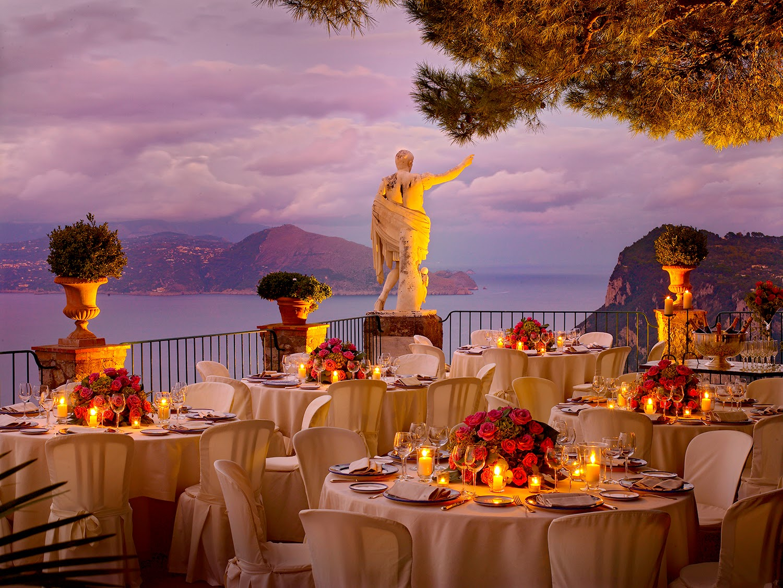 Restaurant cu vedere panoramică din Orașul Anacapri