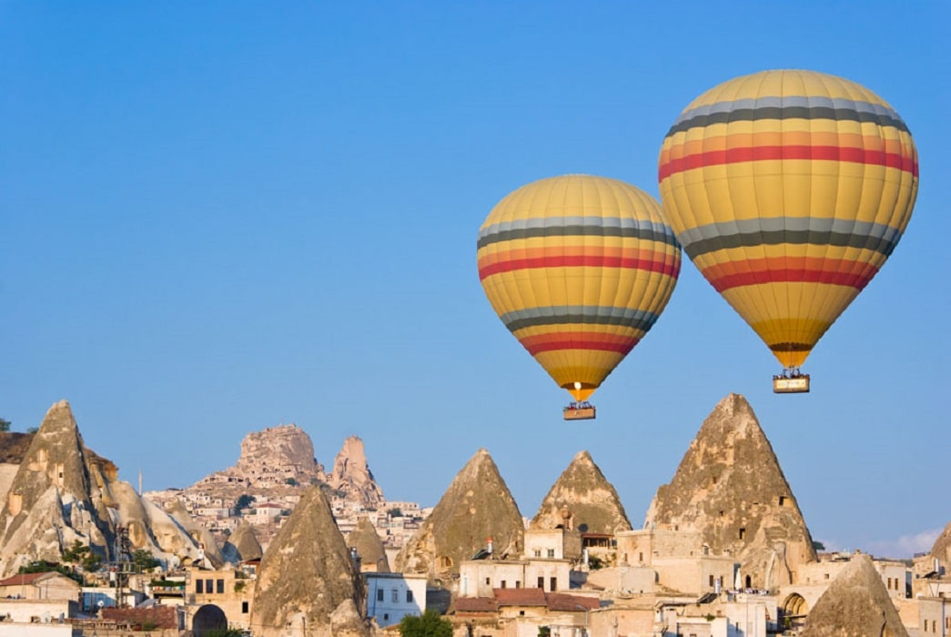 Baloane cu aer cald deasupra Cappadociei, Turcia