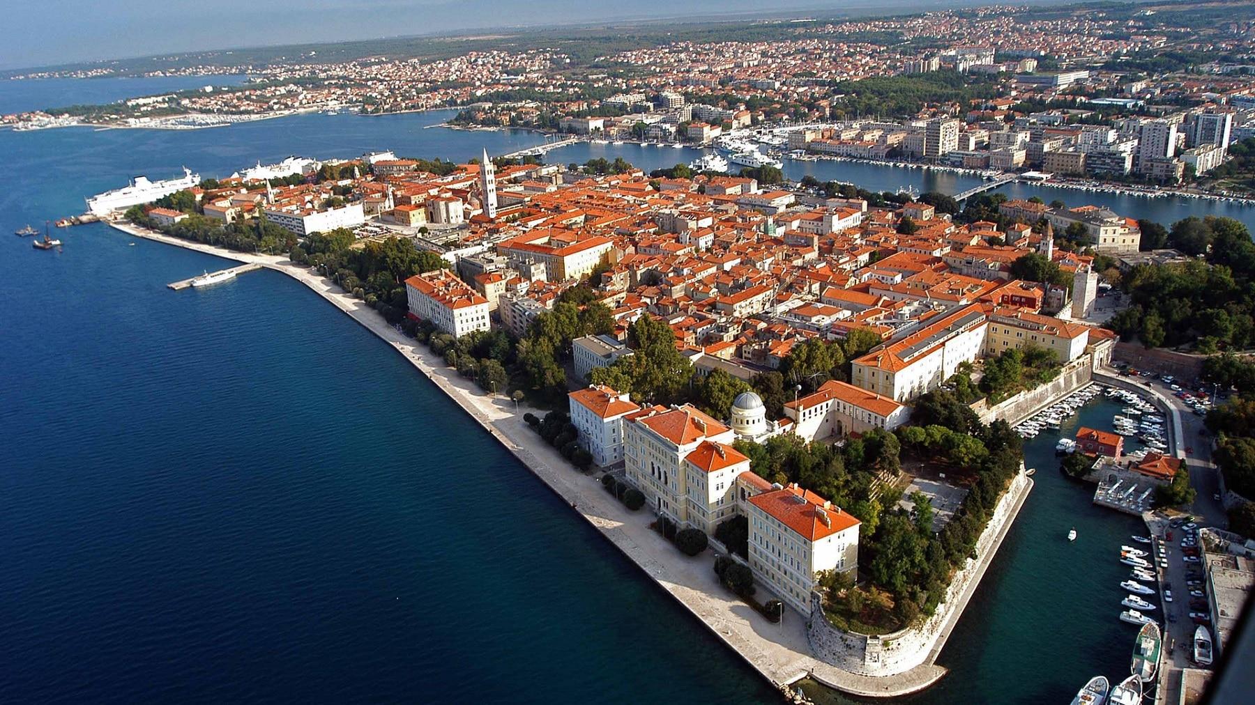 Panoramă asupra orașului Zadar, Croația